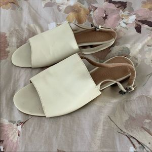 Madewell Cream Slingback Sandals